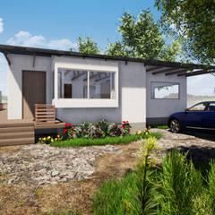 VISTA ACCESO - CASA COCM de CR.3D Modeling & Rendering Rural Ladrillos