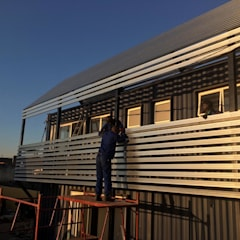 Pamodzi Diepkloof mixed use containers:  Houses by A4AC Architects,