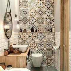 : Baños de estilo  por Tendencia Design by Bibiana Sabogal, Ecléctico