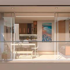 INTERIOR 25G / VIÑA SAN REMO: Balcón de estilo  por CRECE ARQUITECTURA SAS, Moderno