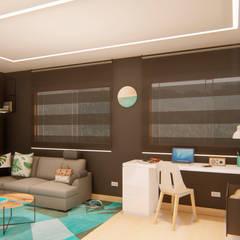 INTERIOR 25G / VIÑA SAN REMO: Estudios y despachos de estilo  por CRECE ARQUITECTURA SAS, Moderno