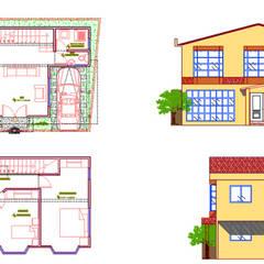 Casas unifamiliares de estilo  por AA ARQUITECTOS,