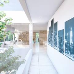 Residencia CS: Pasillos y recibidores de estilo  por D'ODORICO ARQUITECTURA,Moderno