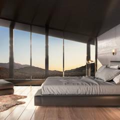 Hoteles de estilo minimalista de HC Arquitecto Minimalista Hormigón