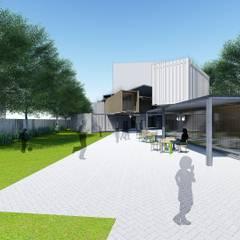 滑步車親子園區:  餐廳 by 尋樸建築師事務所, 工業風