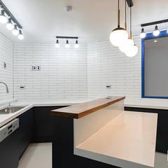 은평뉴타운 상림마을 푸르지오 아파트 41PY: 곤디자인 (GON Design)의  주방 설비,