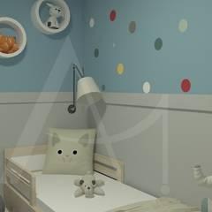 Habitaciones para niños de estilo  por Anny Maciel Interiores - Casa Cor de Riso, Escandinavo Madera Acabado en madera