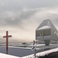 Proposta para uma capela em Ruanda, na África por FRANCISCO LAUANDE JR Moderno Concreto