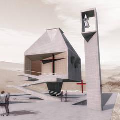 Proposta para uma capela em Ruanda, na África por FRANCISCO LAUANDE JR Moderno