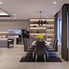 Thiết kế ấn tượng cho CĂN HỘ ĐẢO KIM CƯƠNG:  Phòng ăn by ICON INTERIOR,