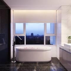 Thiết kế ấn tượng cho CĂN HỘ ĐẢO KIM CƯƠNG:  Phòng tắm by ICON INTERIOR,