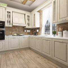 Дизайн интерьера двухкомнатного дома 73 кв. м в стиле шале. Фото проекта: Кухни в . Автор – ЕвроДом,