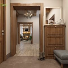 Rustic style corridor, hallway & stairs by ЕвроДом Rustic