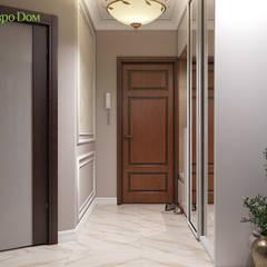 Дизайн двухкомнатной квартиры 52 кв. м в стиле неоклассика: Коридор и прихожая в . Автор – ЕвроДом,