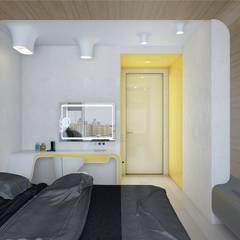 ОГНИ: Спальни в . Автор – Ник и Христина Рахат Rahat-House Design,