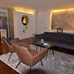 APARTAMENTO GAIT Salas de estilo escandinavo de CLAUDIA CAROLINA GONZALEZ C Escandinavo