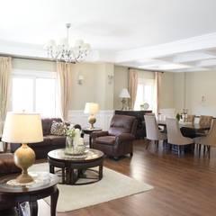 اتاق نشیمن توسطSM Interiors, شمال امریکا چوب Wood effect