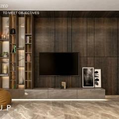 Ruang Keluarga Modern Oleh Mockup studio Modern