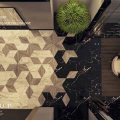 جنوب الاكاديمية - القاهرة الجديدة - مصر الممر الحديث، المدخل و الدرج من Mockup studio حداثي