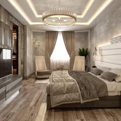 جنوب الاكاديمية - القاهرة الجديدة - مصر:  غرفة نوم تنفيذ  Mockup studio, حداثي