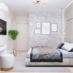 Дизайн-проект 2 комн. квартиры 61 кв. м. Москва: Маленькие спальни в . Автор – CUBE INTERIOR,