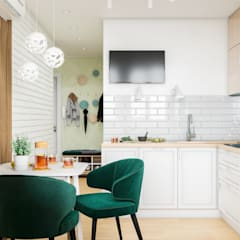 Small-kitchens توسطCUBE INTERIOR, مینیمالیستیک