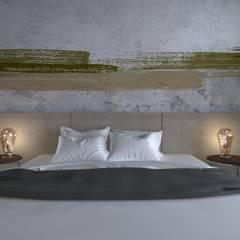 dom//300m2 Minimalistyczna sypialnia od TOTAMSTUDIO pracownia architektury wnętrz Minimalistyczny