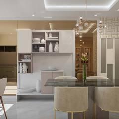 Bangalore-3bhk home Interior Modern dining room by De Panache Modern