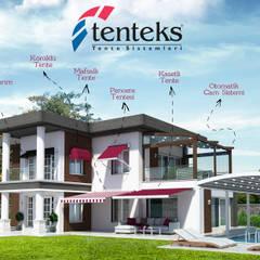 Oleh Tenteks Tente & Gölgelendirme Sistemleri Modern Aluminium/Seng