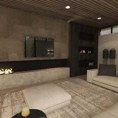 Interieur nieuwbouw villa te Helmond Moderne woonkamers van Thomassen Interieurs Modern