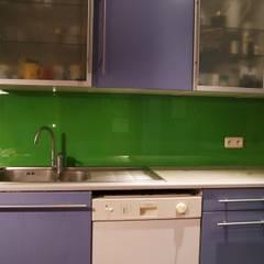 Lacobel zielony Nowoczesne ściany i podłogi od Moje Szkło Nowoczesny Szkło