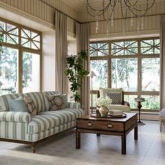 Дом на Николиной Горе: Зимние сады в . Автор – MARION STUDIO, Классический