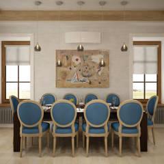 Минимализм в загородном доме.: Столовые комнаты в . Автор – Студия дизайна 'СИМФОНИЯ',