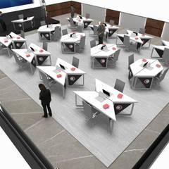 T-COD Mimarlık Ltd. – TÜRK KIZILAYI:  tarz Koridor ve Hol, Modern