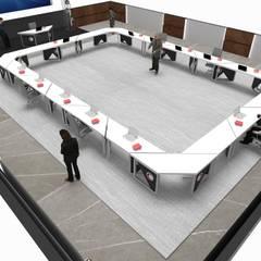 T-COD Mimarlık Ltd. – TÜRK KIZILAYI:  tarz Çalışma Odası,