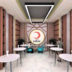 T-COD Mimarlık Ltd. – TÜRK KIZILAYI:  tarz Koridor ve Hol,