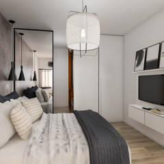 Obra Nuñez - Diseño integral Dormitorios escandinavos de Bhavana Escandinavo Derivados de madera Transparente