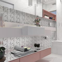 Bathroom by Multiplanos Arquitetura, Classic ٹائلیں