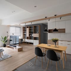 غرفة السفرة تنفيذ 極簡室內設計 Simple Design Studio, إسكندينافي