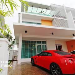 Kiara Residence Puchong:  Garage/shed by ZYON STUDIO SDN BHD(fka zyon interior design sdn bhd), Modern