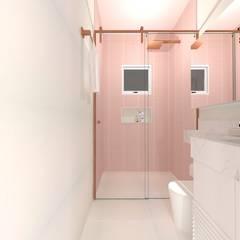 LAVABOS E BANHEIROS Banheiros clássicos por Talita Kvian Clássico Cerâmica