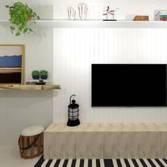 اتاق نشیمن توسطTalita Kvian, راستیک (روستایی) چوب Wood effect