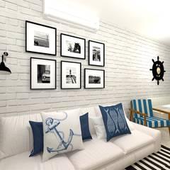 اتاق نشیمن توسطTalita Kvian, راستیک (روستایی) آجر