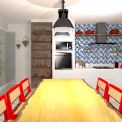 Talita Kvianが手掛けたキッチン収納, トロピカル MDF