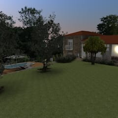 Jardines frontales de estilo  por Form Arquitetura e Design, Rural