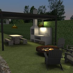 Form Arquitetura e Design의  실내 정원, 컨트리