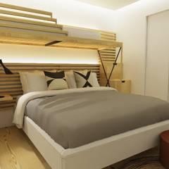 Design de interiores, projeto da área da piscina, garagem e churrasqueira em Casa de Campo Quartos campestres por Form Arquitetura e Design Campestre
