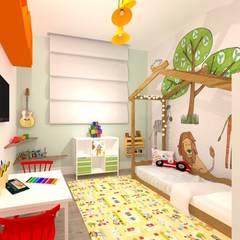 Cuartos para bebés de estilo  por Talita Kvian, Rústico