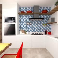 Armarios de cocinas de estilo  por Talita Kvian, Tropical