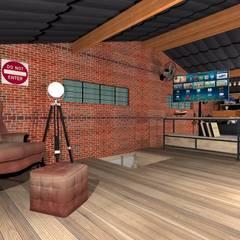 Salas / recibidores de estilo  por Talita Kvian, Rústico